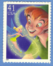 PETER PAN and TINKER BELL Art of Disney MAGIC Single STAMP Unused 07 Postage MNH