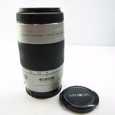 SONY Fit Konica Minolta Minolta AF 75-300mm f/4.5-5.6 D AF Lens (Silver) -BB3-