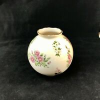 LENOX China Globe Vase Floral Porcelain Constitution Gold Rim