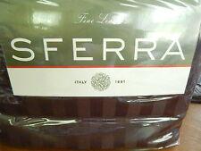 Sferra Franco 4 Pc Sheet Set - Cocoa Brown Stripe King 100% Cotton 600 Tc - New!