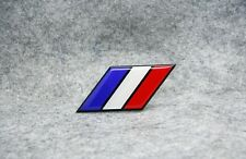 France flag Aluminium Metal Badge Decal Emblem Sticker For Peugeot Renault Car