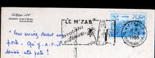 GHARDAIA (ALGERIE) PORTE à MELIKA / Style M'ZAB , Flamme postale en 1988
