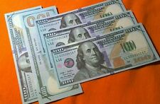Lot of 10 $100 Bills Fake Money Novelty Movie Prop Play Not Legal Tender (1,000)