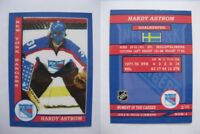 2015 SCA Hardy Astrom Sweden New York Rangers goalie never issued produced #d/10