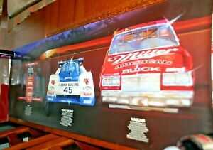 BUICK MOTORSPORT 1987 INDY NASCAR IMSA RACE CARS POSTER 17 X 36 COLOR HUGE