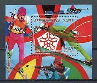 27459) Guinea 1987 MNH New Olympic G.Calgary S/S Bf