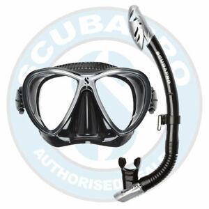 Scubapro Synergy Twin Mask w Dry Snorkel Set   Black/Silver