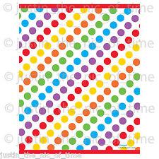Rainbow Colore Ragazze Compleanno in Plastica Bottino Borsa Regalo Favore Sacchetti x8