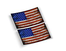 AMERICAN GRUNGE FLAG DECAL, USA FLAG VINYL STICKER, (BUY 1 GET 2) FREE SHIPPING