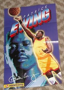 HONEYCOMB 1995 Basketball Player Poster PATRICK EWING Craft General Foods
