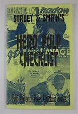 STREET & SMITH'S HERO PULP CHECKLIST #1 PULP COLLECTOR PRESS 1991 JOHN GUNNISON