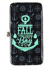 Fall Out Boy Anchor Logo Kisslock Hinge Wallet Purse New