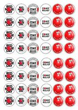 COMIC RELIEF RED NOSE DAY EDIBLE RICE WAFER PAPER CUP CAKE TOPPER X48