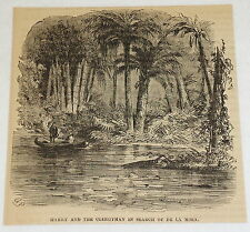 1859 magazine engraving~ HARRY & CLERGYMAN IN SEARCH OF DE LA MOZA, Point Galera
