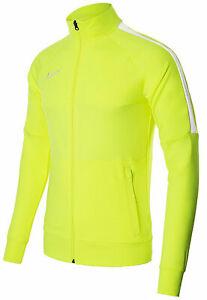 Nike Track Jacket Mens Full Zip Academy Dri-Fit Volt Yellow 100% Genuine New