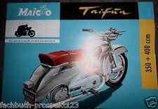 MAICO Tifone 350 & 400ccm prospetto Tübingen 1954 Oldtimer Moto da collezione