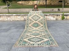 ANATOLIAN Turkish Antique Rug Lowpile Distressed Oushak Rug Tribal Runner RUG