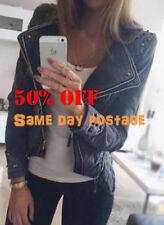 Regular Size Denim Solid Coats & Jackets for Women