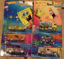 2015 Hot Wheels SpongeBob SquarePants Set of 6 Bronco,Hiway Hauler,Ranchero, ++