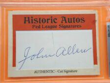 John Allen 2019 HISTORIC AUTOGRAPHS FED LEAGUE CUT SIGS Card