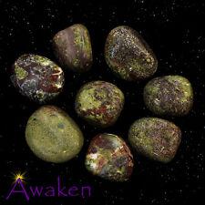 *ONE* DRAGON STONE (Epidote/Piedmontite) Natural Tumbled Stone Approx 15-20mm *T