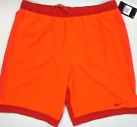 Mens NIKE Volley Swim Trunks Shorts - NWT - Bright Orange Red