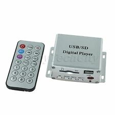 New 8G 11V-14.4V 0.5A USB SD DVD FM MP3 Digital Player with Remote Control Alloy