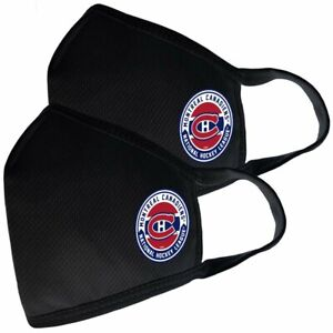 Montreal Canadiens NHL Team Logo Two Pack Face Covers with Filter