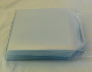 400 Cd DVD Plastic Wallet 150 Micron Sleeve 125x125mm Clear Disc Cover Case Flap