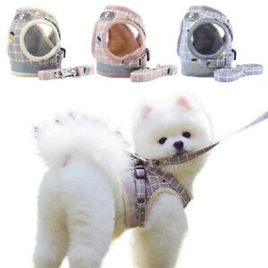 Cat Dog Puppy Harness Mesh Vest Adjustable Soft Pet Cat Chain Leash Reflective