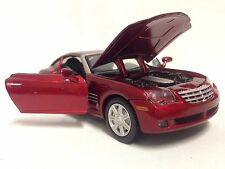 "2003 Chrysler Crossfire, Collectibles 1:24 Scale, 7"" Diecast, MotorMax Toy, Red"