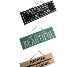 Inspirational Quote Small Wooden Plaque Vintage Wall Hanging Shabby Chic Sign