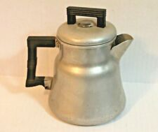 "Vintage Wearever 6"" Silver Aluminum Percolator Coffee Pot with Parts 3004"