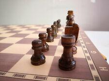 3-in-1 Schachspiel Dame Backgammon Holz Hochwertig Großes Brettspiel