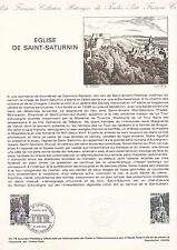Document Philatélique Timbre  1er Jour : 10/06/ 1978 - Eglise de Saint Saturnin