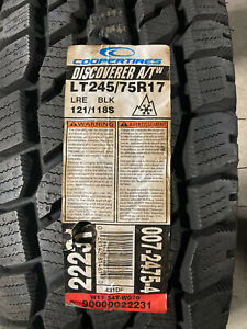 1 New LT 245 75 17 LRE 10 Ply Cooper Discoverer A/T-W Snow Tire