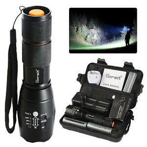 50000lm Tactical LED Flashlight  Rechargeable Torch Shadowhawk +2X Battery