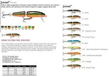 RAPALA JOINTED FLOATING 9 CM SLV  FLUO  CHART  RAPJ09SF