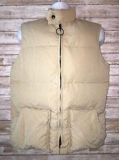 Vintage Men's Hansa-Branta by Stearns Goose Down Vest Medium Full Zip Beige
