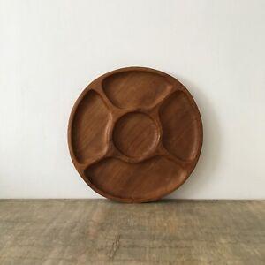 Wooden Hand Carved Bowl Serving Tray Dish Decorative Boho Tiki Trinket Snacks