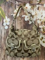 COACH F23392 DAISY SIGNATURE SHOULDER   BAG PURSE
