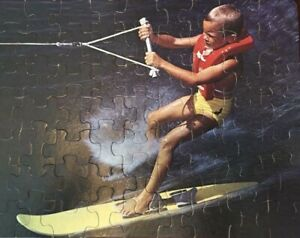 Vtg Whitman Junior Guild Lake Water Skiing Boating 63 pc Jigsaw Puzzle COMPLETE