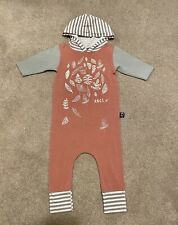 Rags to Raches Falling Leaves Hooded Jumper Romper Size 18-24 Months