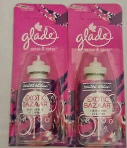 Glade Sense & Spray Refills 18ml Exotic Bazaar Wild Rose & Saffron X 2