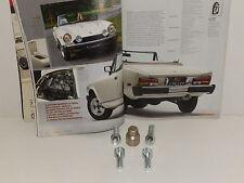 FIAT 124 SPIDER - BULLONI RUOTE ANTIFURTO 12X1,25 PZ 04 + CHIAVE Mm 19 ACCIAIO
