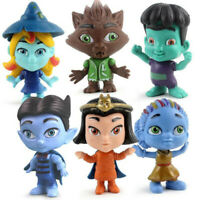 6pcs/set Monster Figures Toy Super Doll PVC Anime Action Figure Model Doll Toys