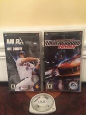 PSP Game Lot Of 3 MLB 07 Underground Rivals Madden 06