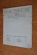 Marconiphone Model 534 7 valve all-wave A.C. receiver Genuine Service Manual
