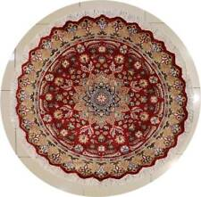 Rugstc 5x5 Pak Persian Red Area Rug, Hand-Knotted,Floral with Silk/Wool Pile