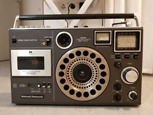 PANASONIC RF-5410DB Radio Cassette player microphone aux Vintage 70/80 Very Rare